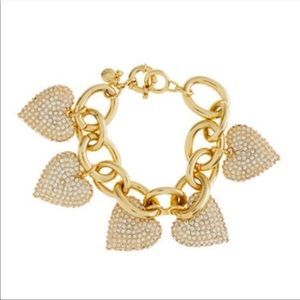 J.Crew Gold Hearts Charm Bracelet